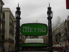 Liceu Metro stop, Las Ramblas, Barcelona