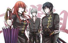 Gintoki, Shinpachi, Kagura My gangland Manga Art, Anime Manga, Samurai, Gintama, Comedy Anime, Okikagu, Naruhina, What Is Like, Game Art