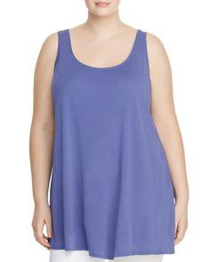 Eileen Fisher Plus Silk Tunic Tank