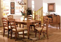"""Furniture of America Cordelia Country Style Dining Table with 14"""" Expandable Leaf, American Oak Furniture of America http://www.amazon.com/dp/B00GIJ095I/ref=cm_sw_r_pi_dp_F23Uwb0NGBR7B"""