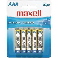 MAXELL 723810 - LR0310BP Alkaline Batteries (AAA; 10 pk; Carded)