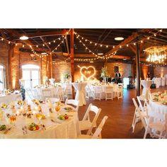 Classy modern wedding decor.