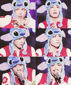 TOP (Choi Seung Hyun) He's wearing a Stitch hat. Too cute. Daesung, T.o.p Bigbang, Bigbang G Dragon, Taemin, Shinee, Yg Entertainment, Baby Baby, Sung Lee, Lee Hi