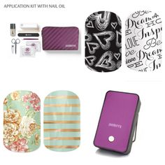 Jamberry Essentials Bundle!! 4 nail wraps of your choosing, the application kit with cuticle oil, and the much loved mini heater! All for just $84 jenkucan.jamberrynails.net