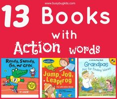 Speech pathologist approved!  A list of picture books for toddlers and preschoolers with language delay focussing on verbs.