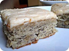 cook this meals: Banana Bread Bars with Brown Butter Frosting