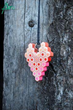 Pendants – Pencil pendant, Love Pendant, HEART – a unique product by Andrei-Abrudean on DaWanda Diy Jewelry, Unique Jewelry, Jewellery, Love Valentines, Dremel, Pencil Art, Colored Pencils, Crochet Earrings, Pendants
