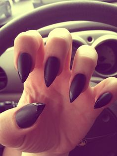 Pointed black nails