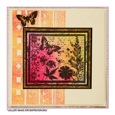 Crafty Individuals CI-152 - 'Butterfly Meadow' Art Rubber Stamp, 90mm x 75mm - Crafty Individuals from Crafty Individuals UK