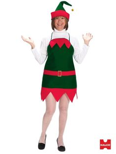 5bf9bb863 Adult Elf Holiday Apron And Hat Costume. Elf ShoesHoliday Party  OutfitChristmas ...