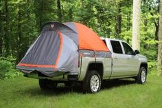 The Rightline Gear truck tent lets you experience camping in a dry truck bed, up off the ground, without the complication of tarps, stakes, and guy lines. It features a floorless design that allows you to set up or take down the tent without removing your gear from the bed. The tent is outfitted with (2) gear pockets, a lantern hanging hook, glow-in-the-dark zipper pulls, and a sky view vent. Measure the inside of your truck bed with the tailgate up and check the truck tent Sizing Guide…