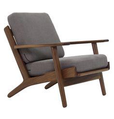 The Matt Blatt Replica Hans Wegner Plank Armchair - Oak/Walnut - Matt Blatt