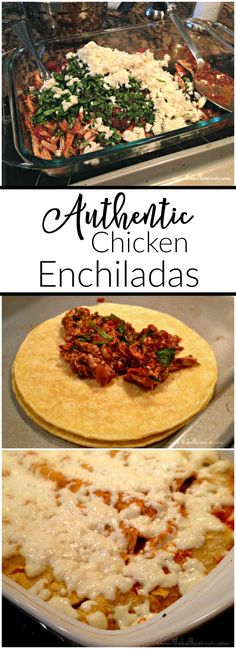 These authentic chicken enchiladas are spicy, cheesy and full of Mexican flavor.
