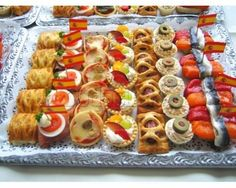Canapes international by roberta Appetizer Salads, Appetizers For Party, Appetizer Recipes, Food Platters, Party Platters, Party Sandwiches, Party Buffet, Party Food And Drinks, Small Meals