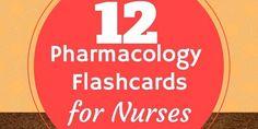 nursing pharmacology flascards