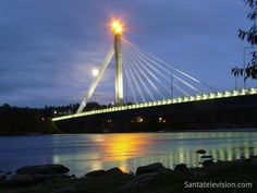 "The ""Lumberjack's Candle Bridge"" in Rovaniemi in Lapland"