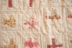 muted pinks cross quilt