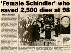 Irena Sendler (1910-2008). Rescued thousands of Jewish children during the Holocaust. /  'She was nominated for the Nobel Peace Prize, and unbelievably lost to Al Gore