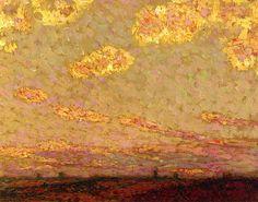 Sunset at Gargeroy Henri Le Sidaner - circa 1913