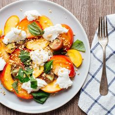 Indianapolis-based couple Sonja and Alex Overhiser spend most of their time in the kitchen. The pair's skills in writing, photography and developing whole food recipes led them to create their blog, A Couple Cooks, which has a devoted following of thousands of fans who can't wait to see what they'll whip up next. Their peach, heirloom tomato and burrata cheese salad with fresh basil looks like a winner to us.