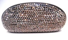 HEMATITE RHINESTONE LARGE EYEGLASS, SUNGLASS CASE BLACK LOTS OF BLING NWT