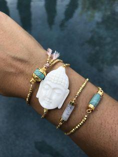 Bone Buddha Head Bracelet