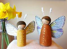 we bloom here: Peg Doll Swap Wrap Up: Butterflies & Blooms