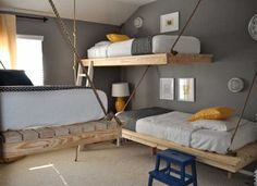Always on the look out for new bunk/loft bed ideas.  This is the one we want to do for the kids.