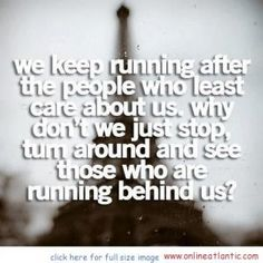See those who are running behind us