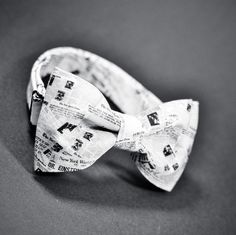 newspaper marthu bow tie