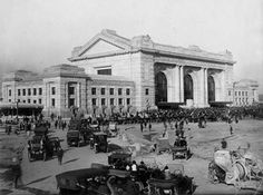 A shootout taking place at the Union Station railroad depot in Kansas City, Missouri on June 17, 1933. Four officers and their prisoner were killed when Pretty Boy Floyd, Vernon Miller, Richetti tried to free their friend, Frank Nash. Nash was in custody and being returned to Leavenworth prison after an escape on Oct. 19,1930.