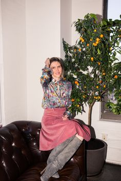 The Inspiration Behind Gabriela Hearst's Fall 2017 Collection: How the cult designer's fashion show came together, and which power woman she used as inspiration. --- Floral print tops and pink mini skirt.  | Coveteur.com