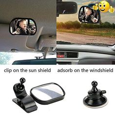 #baby Product Details: Item Name: baby car mirror Item Type: car adjustable baby mirror Brand Name: #RevoLity Material: Plastic Color: Black Features: Keep an ey...