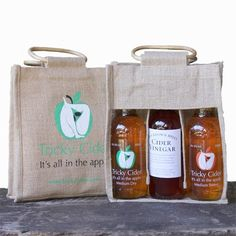 Tricky Cider Company Gift Bag - Create Your Own Christmas or Birthday Gift Create Your Own, Birthday Gifts, Apple, Bottle, Bags, Christmas, Products, Birthday Presents, Apple Fruit