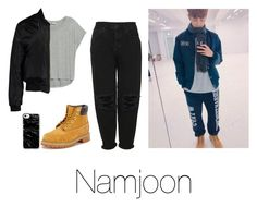 """""""Day out with Namjoon"""" by infires-jhope on Polyvore featuring Bobeau, Sans Souci, Timberland, Casetify and Boutique"""