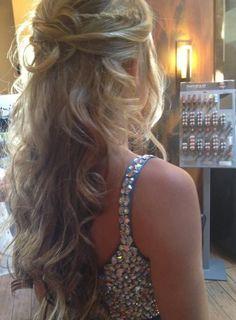 Frisur abschlussball glatte haare