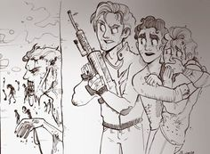 Zombie!Klaine au where Cooper is a badass by muchacha