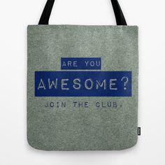 Awesome Club Tote Bag