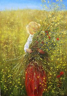 Girl with flowers Original oil painting Woman art on canvas Nature painting Flowers artwork Woman picture Woman flower art Gift for her Nature Artwork, Nature Paintings, Oil Paintings, Artwork Wall, Indian Paintings, Abstract Paintings, Landscape Paintings, Original Paintings, Wall Art