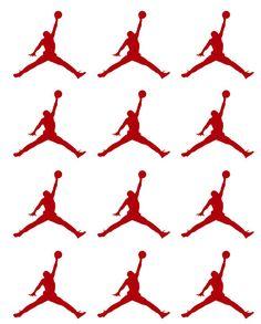 30 Jumpman Jordan Stickers Basketball Player by SuzannasArt