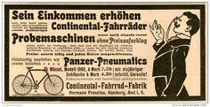 Original-Werbung/Inserat/ Anzeige 1902 - CONTINENTAL-FAHRRÄDER - ca. 180 x 90 mm