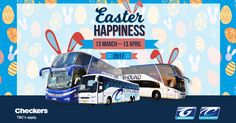Book your Easter holiday because we have news! Book your Citiliner ticket with one of our sales reps between 13 March and 13 April 2017 at Checkers and you will get a 15% discount on your ticket! T&C's apply. #CitilinerEaster