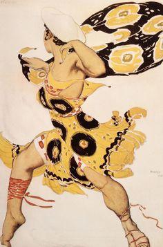Leon Bakst. Costume of a young Beotian. Sketch. Л.С.Бакст. Эскиз костюма молодого беотийца. 1911.