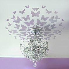 Diagonalizando o meu quarto e fazendo as borboleta irem para a luz...