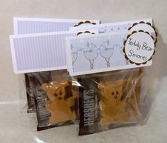 Teddy Bear S'mores - Perfect for baby shower or birth announcements (4 pack) $5.00