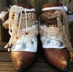 Cowgirl cowboy Boots, Folded over boots
