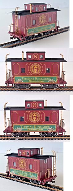 Other Narrow Gauge 9037: Thomas Kinkade Christmas Express Issue # 12 - Christmas Caboose 8011 -> BUY IT NOW ONLY: $49.99 on eBay!