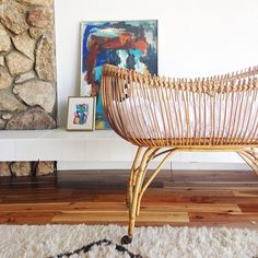 vintage french wicker bassinet - Google Search
