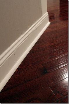 Hardwood Floor Shoe Example Painted To Match Moulding