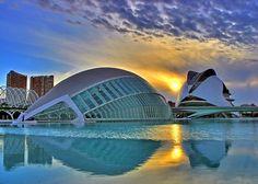 The city of arts and sciences - Valencia, Spain  Architect Santiago Calatrava.